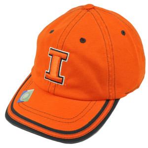 NCAA Illinois Fighting Illini Hat Cap Relaxed Slouch Platinum Garment Wash Orange