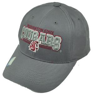 NCAA Washington State Cougars Gray Hat Cap Adjustable Mens WSU Wazzu Curved Bill