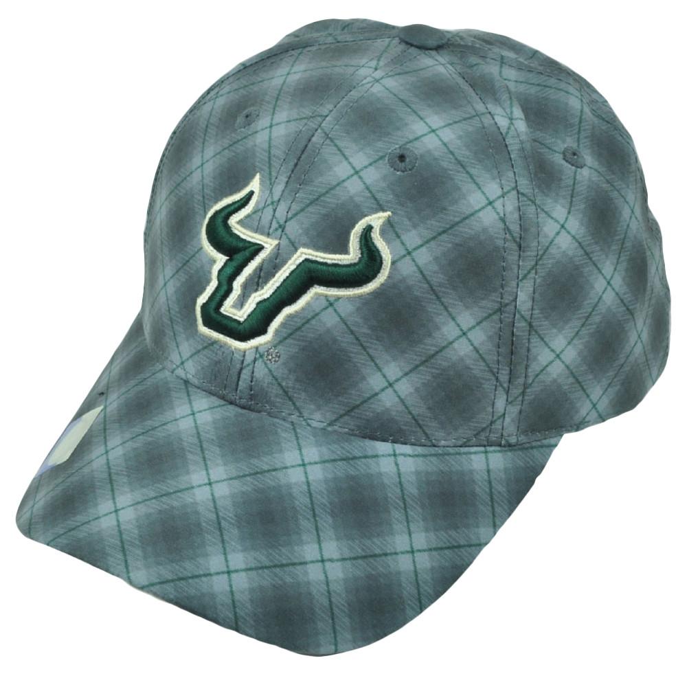 super popular 3c4a9 23c66 ... hot ncaa south florida bulls plaid pattern gray hat cap mens usf 730a2  55149