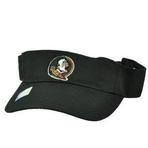 NCAA Florida State Seminoles Noles Black Sun Visor Hat Adjustable Curved Bill