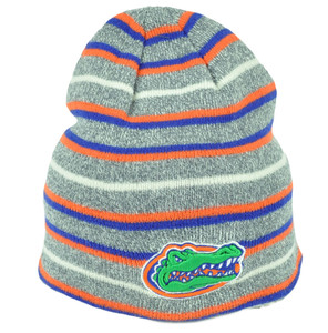 d776311985c00 NCAA Florida Gators UF Knit Beanie Cuffless Striped Gray Orange Blue Hat  Winter