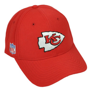 Kansas City Chiefs Reebok Red Hat Cap Adjustable Mens Curved Bill Football