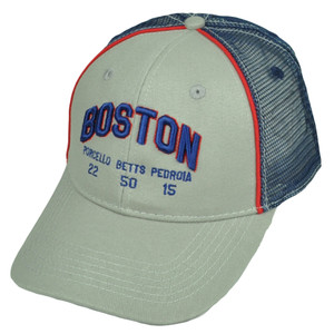 Boston Red Sox Porcello 22 Bets 50 Pedroia 15 Gray Mesh Snapback Players Choice