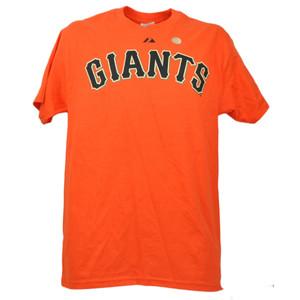 MLB San Francisco Giants Brian Wilson 38 Orange Mens Tshirt Tee Short Sleeve