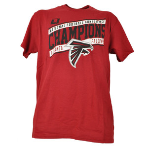 NFL Atlanta Falcons National Conference Champions Mens Adult Tshirt Tee Red