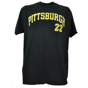 MLB Pittsburgh Pirates Andrew McCutchen 22 Tshirt Black Tee Mens Short Sleeve