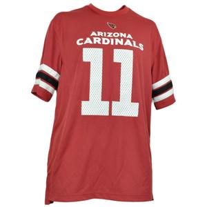 NFL Arizona Cardinals Larry Fitzgerald 11 Jersey  Blitz Mens V Neck Red Striped
