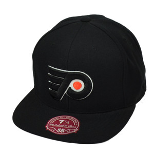 NHL Mitchell Ness Philadelphia Flyers Vintage Hockey Hat Cap Black Fitted Size