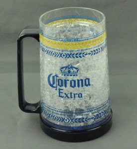Corona Extra 16oz Freezer Mug Crushed Ice Beer Drink Frosty Freezable Cup Cold