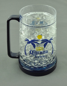 Corona Extra Color Freezer Mug Crushed Ice 16oz Drinks Beers Cup Blue Beverage