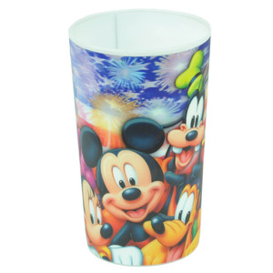 Disney Mickey Mouse Friends Lenticular Cup Plastic American Flag Fireworks 22oz