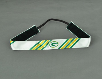 Green Bay Packers Headband Womens White Green Elastic Hair Accessory Sport Game