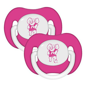 NCAA Alabama Crimson Tide Orthodontic Pacifiers Infant Baby Fanatic 2 Piece Pink