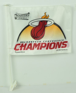 2014 Eastern Conference Champions Miami Heat Car Window Flag Double Sided