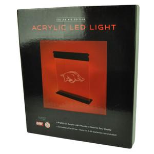 NCAA Arkansas Razorbacks Acrylic LED Light Fan Novelty 12x14 Sport Bright Mounts