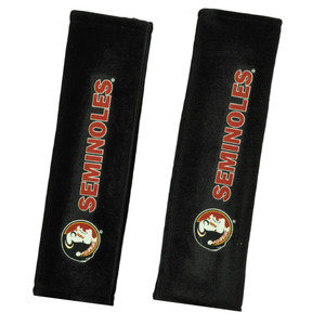 NCAA Florida State Seminoles Automobile Seat Belt Pads Set of 2 Covers Shoulder