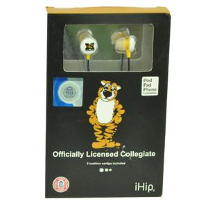 NCAA Missouri Tigers iHip Earphones Headphones Music Loud Audio MP3 Songs Mizzou