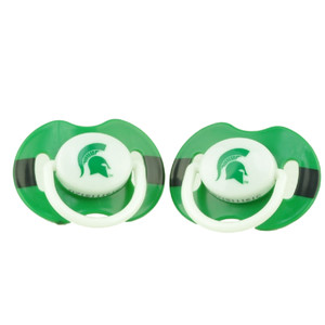 Michigan State Spartans Orthodontic Pacifiers Infant Baby Fanatic 2 Piece Green