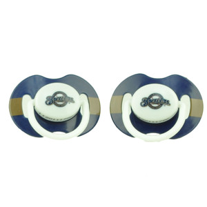 Milwaukee Brewers Orthodontic Pacifiers Infant Baby Fanatic 2 Piece Baseball