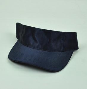 Blank Plain Solid Dazzle Navy Blue Sun Visor Hat Adjustable Curved Bill Sport