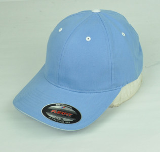 Blue Blank Plain Solid Color Hat Cap Flex Fit Large XLarge Curved Bill Stretch