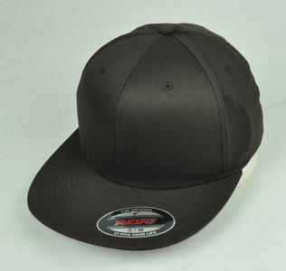 Brown Blank Plain Solid Color Hat Cap Flex Fit Small Medium Flat Bill Stretch