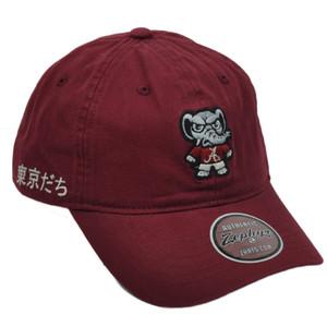 NCAA Zephyr Alabama Crimson Tide Tokyodachi Collection Relaxed Hat Cap Sun Bckle