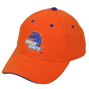 NCAA Boise State Broncos BSU Orange Blue Hat Cap Adjustable Curved Bill Sport