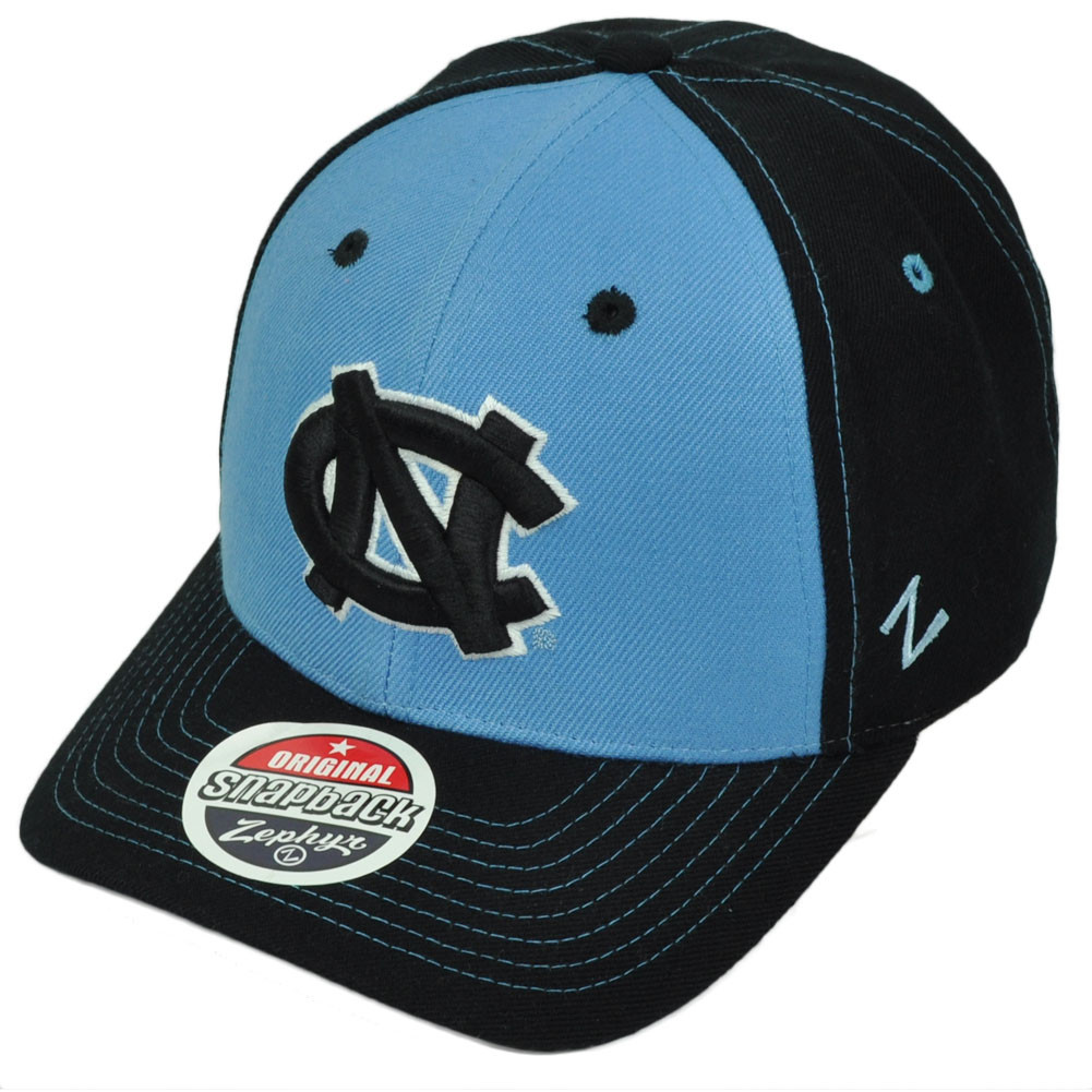 ce1ffba7ae8 NCAA Zephyr North Carolina Tar Heels Snapback Hat Cap Navy Blue Curved Bill.  Your Price   18.95 (You save  11.00). Image 1