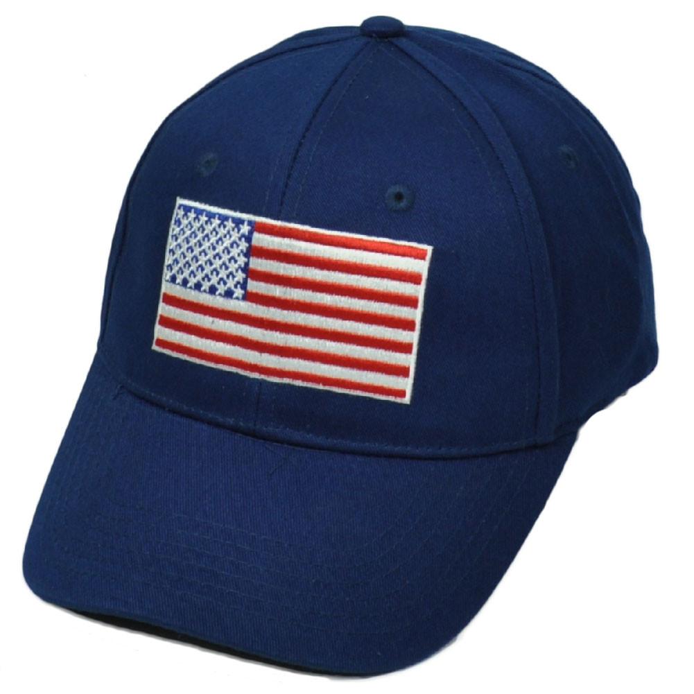 aeb6c2ae032 United States Flag Navy Blue American USA Patriotic Hat Cap Sun ...