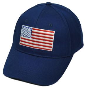 United States Flag Navy Blue American USA Patriotic Hat Cap Sun Buckle Merica
