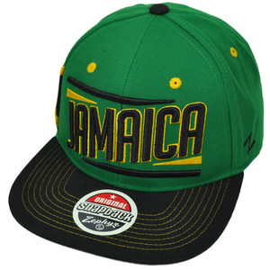 uk zephyr victory jamaica country flag green black flat bill snapback hat  cap 76fdc e58cd 6c6a7c3f2bbe
