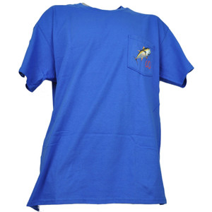 Colorado State Pocket Tee Royal Blue Angler Cove Fishing Tshirt Tee Mens Adult