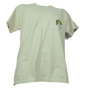 Colorado State Pocket Khaki Angler Cove Bass Fish Fishing Tshirt Tee Mens