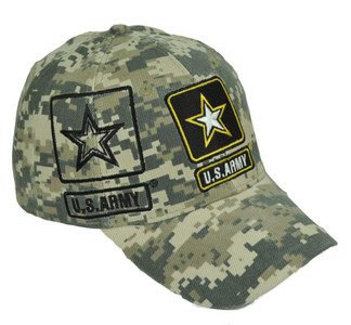U.S Army Strong Digital Camouflage Camo Military Curved Bill Adjustable Hat Cap