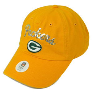 NFL Green Bay Packers Sequin Name Womens Hat Cap Yellow Relaxed Adjustable