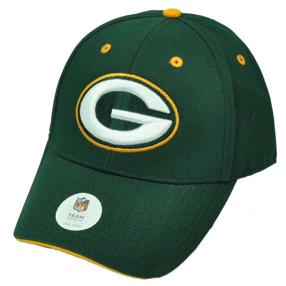e80b2c027 NFL Green Bay Packers Hat Cap Adjustable Curved Bill Game Day ...