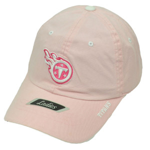 NFL Tennessee Titans Ladies Hat Cap Pink Relaxed Adjustable Garment Wash