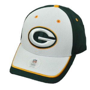 NFL Green Bay Packers Two Tone Green White Curved Bill Hat Cap Adjustable Packs
