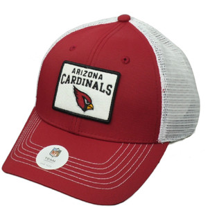 NFL Arizona Cardinals Burgundy White Mesh Snapback Hat Cap Trucker Curved Bill
