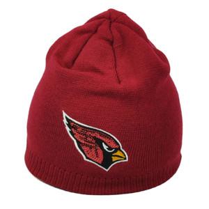 NFL Arizona Cardinals Burgundy Womens Cuffless Sequin Logo Knit Beanie Hat