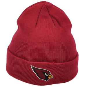 NFL Arizona Cardinals Burgundy Cuffed Knit Beanie Hat Winter Skully Football