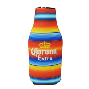 Corona Extra 12oz Zipper Coozies Bottle Coolers Beer Slip Multi Color Striped