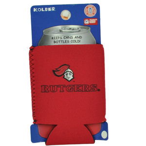 NCAA Rutgers Scarlet Knights Logo Coozies Bottle Drink Coolers Beer Hugger Red