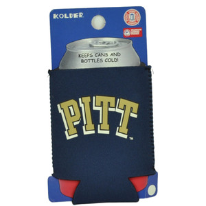 NCAA Pittsburgh Panthers Coozies Bottle Drink Coolers Beer Hugger Coolies Navy