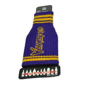 Minnesota Vikings Purple Krazy Kover Bottle Coozie Knit Fits Most Sizes Football