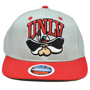 NCAA Nevada Las Vegas Runnin Rebels UNLV Gray Eclipse Snapback Flat Bill Hat Cap