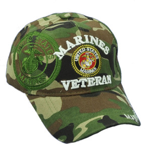 U.S United States Marines Veteran Digital Camouflage Camo Adjustable Hat Cap Vet