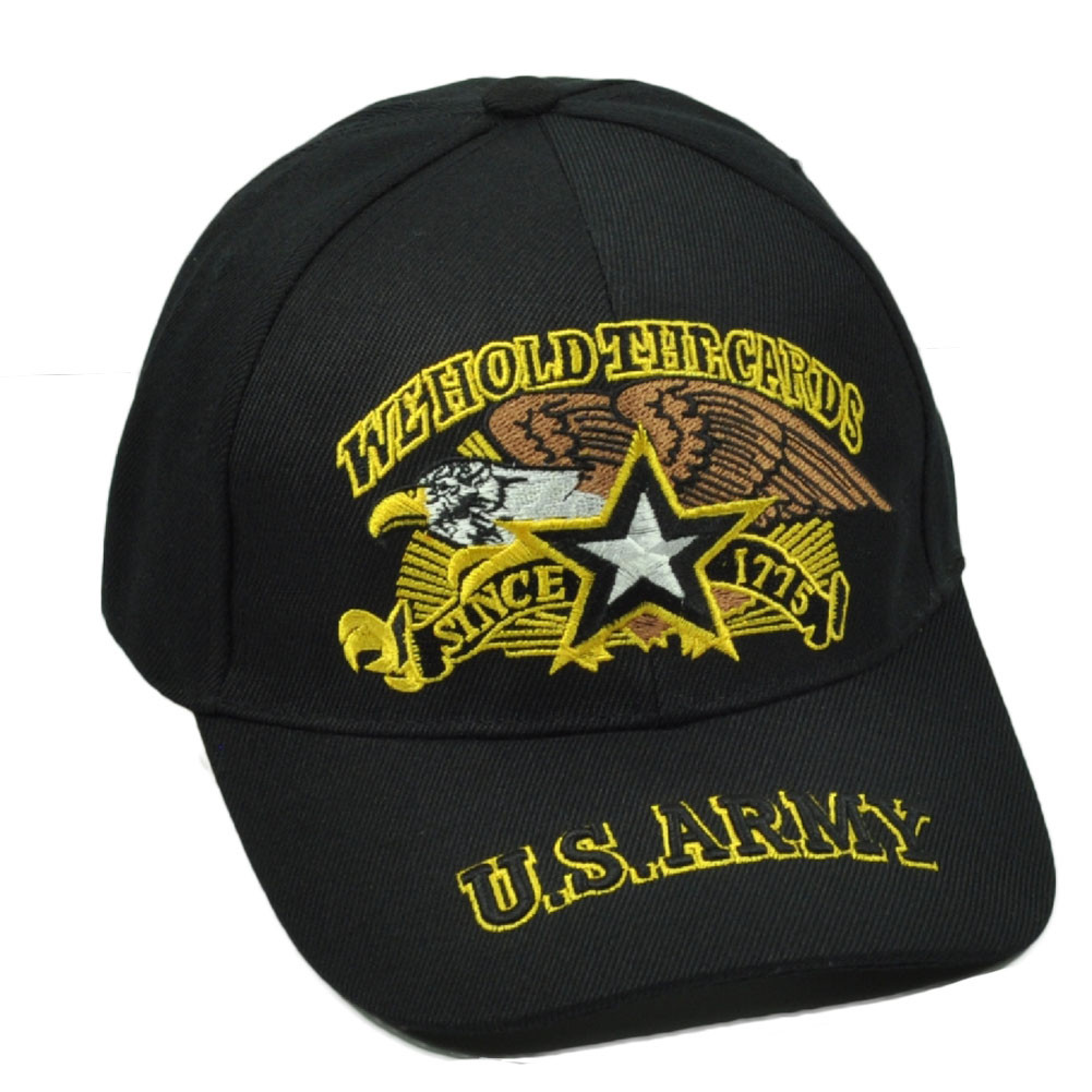 d2307435973 U.S United States Army We Hold The Cards Since 1775 Black Hat Cap Military.  Your Price   12.95 (You save  17.04). Image 1