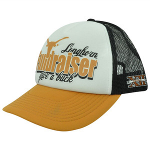 NCAA Texas Longhorns Foam Mesh Snapback Trucker Fundraiser Buck Curved Bill Hat
